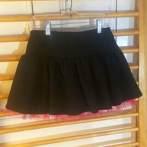 Stretchy black skirt skort - Hot Pink Tulle flare